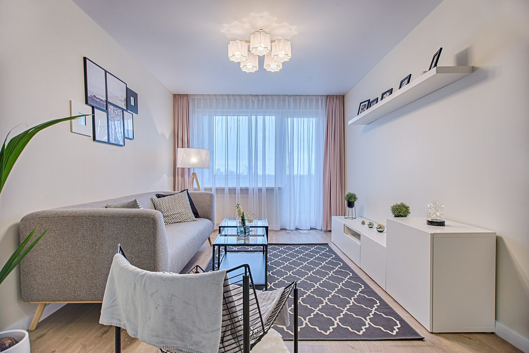 Wave or s fold curtains can make low ceilings feel higher.